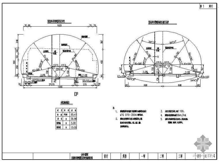 U型桥台锚杆加固资料下载-三峡翻坝公路分离式隧道通用图(两沟合一)
