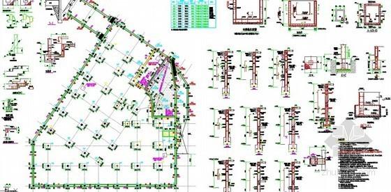 [重庆]2013年某6层框架结构辅楼及停车场项目土建工程量清单(CAD详图60张+项目特征)