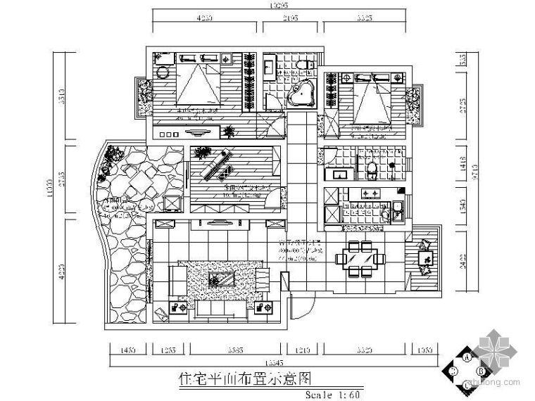 [南昌]地中海三室两厅装修图(含效果图)