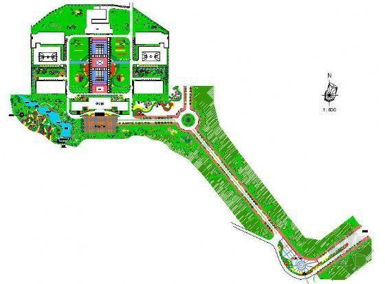 某单位绿化设计平面图