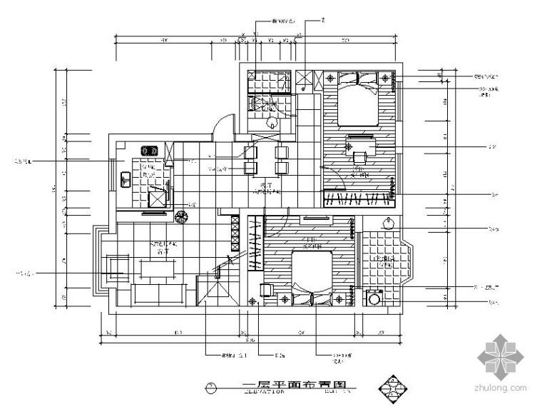 [杭州]二层住宅公寓室内施工图