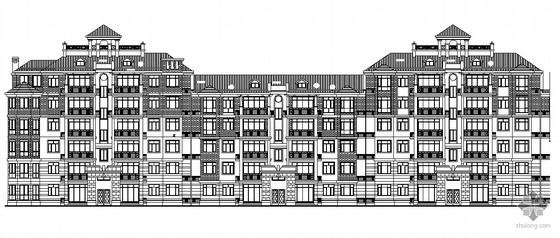 [顺德半岛]某楼盘现代六层洋房建筑施工图(欧式风格)