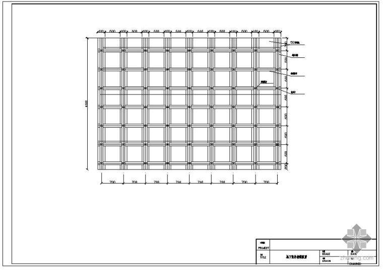 某地下室外墙模板节点构造详图(二)