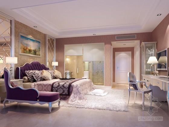 优雅欧式卧室3d模型下载