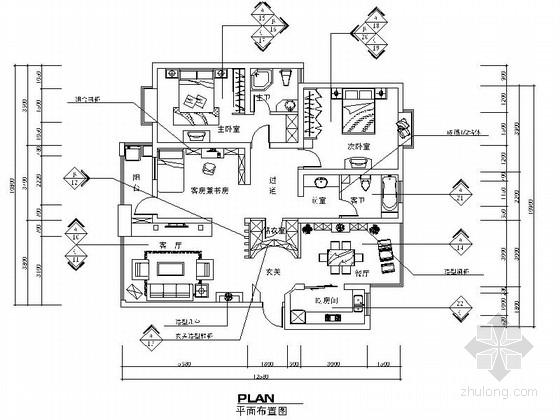 某时尚简约三室两厅两卫室内装修图