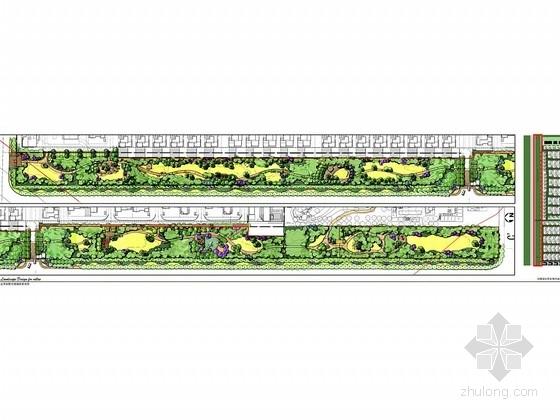 [北京]别墅区滨河道路绿化带景观设计方案