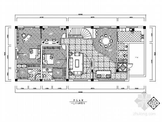 北美风情自建双层别墅室内装饰施工图(含效果)