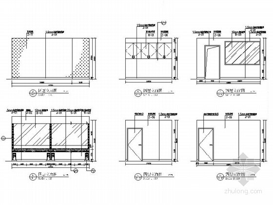 [厦门]中外合资连锁零售企业时尚现代商场装修施工图立面图