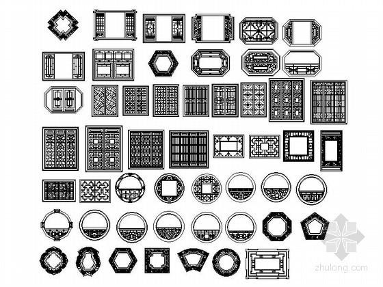 全套中式家具CAD图块下载