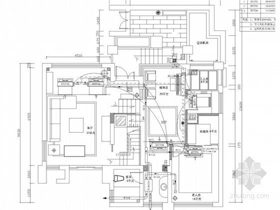 小型别墅暖通空调系统设计施工图(地源热泵)