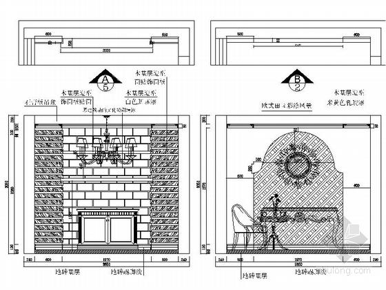 [石家庄]综合性社区典雅欧式复式装修图(含实景)门厅休闲阳台立面图