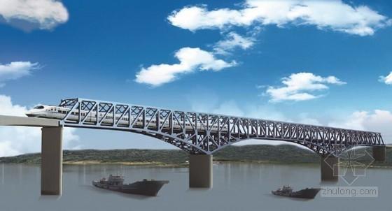 [四川]跨江大桥超大直径桩基超大承台高39m水中墩施工方案附CAD图(围堰栈桥)