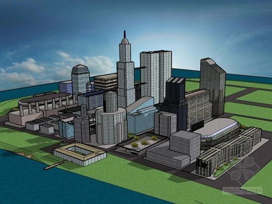 大型建筑SketchUp模型下载