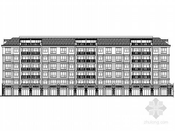 某六层沿街简欧式商住楼建筑施工图