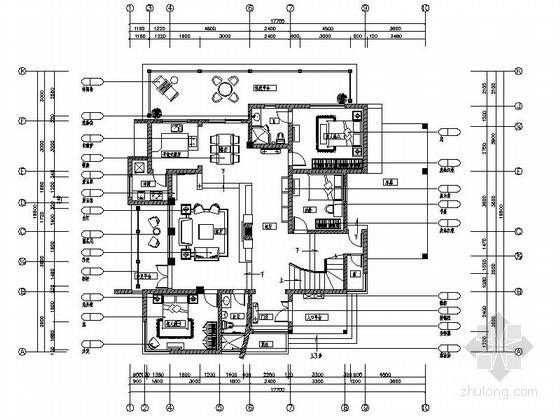 [成都]顶楼花园别墅室内装修图(含效果)