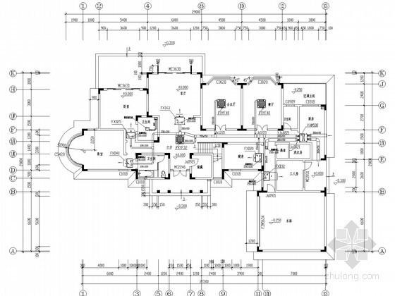 [四川]小型别墅VRV空调系统设计图纸