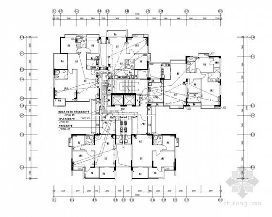 某高层商业大厦强弱电全套施工图纸(含供配电、安防对讲、火灾报警系统)