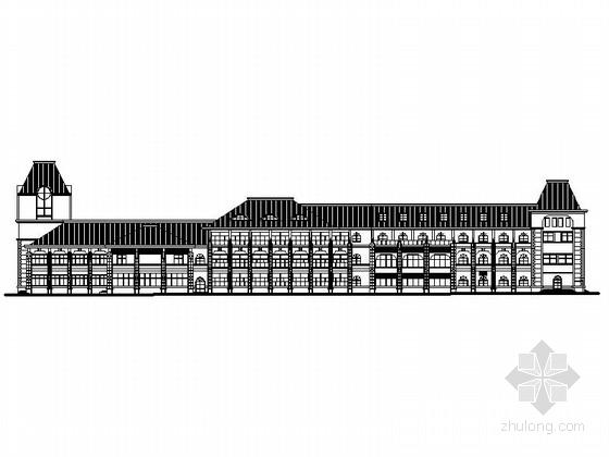 [烟台]某三层旅游接待中心建筑施工图(含效果图)