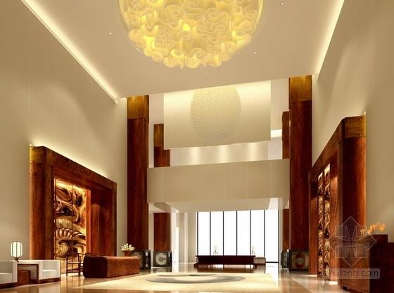 [广东]商业中心现代风格商务酒店2号楼室内设计方案门厅效果图