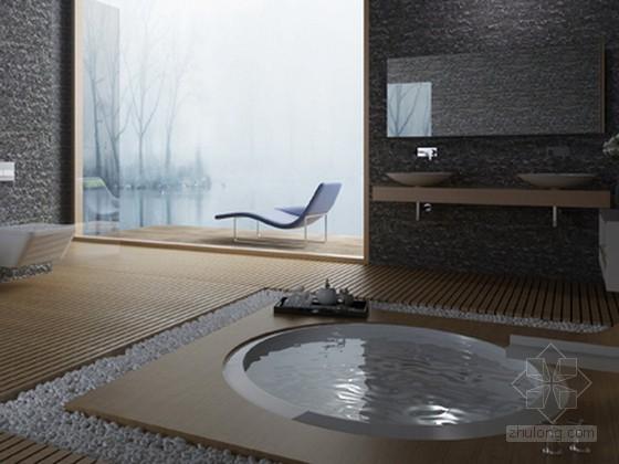 现代简约风格浴室3d模型下载