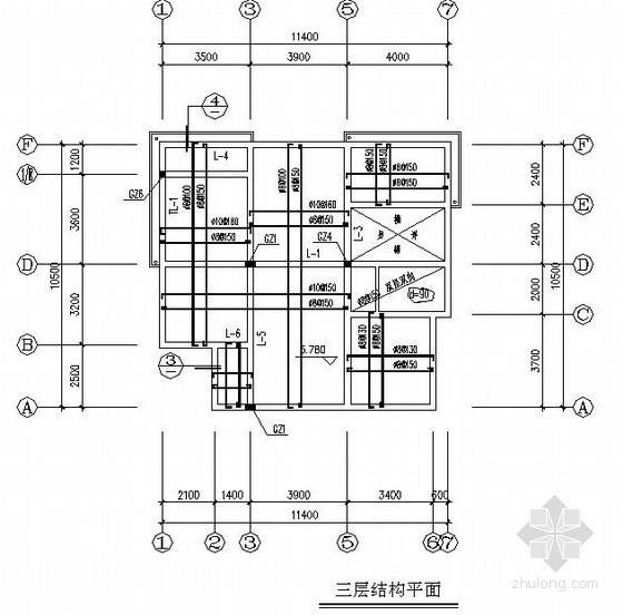 [浙江]三层砌体结构住宅建筑结构施工图(坡屋面 农村住宅)