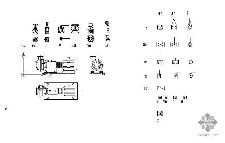 配管專用平立面圖塊(包括各式閥門、泵、管件)