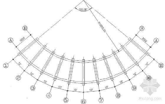 风雨长廊建筑结构详图