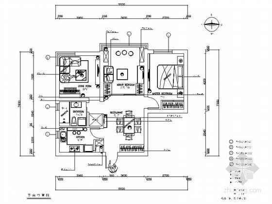 现代简约风格教师一居室公寓设计装修图