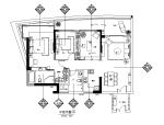 【海南】蓝色维也纳风格样板房设计CAD施工图(含效果图)