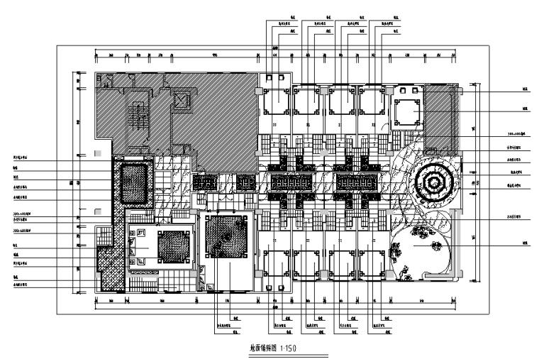 [上海]混搭风格餐厅设计施工图(附效果图)