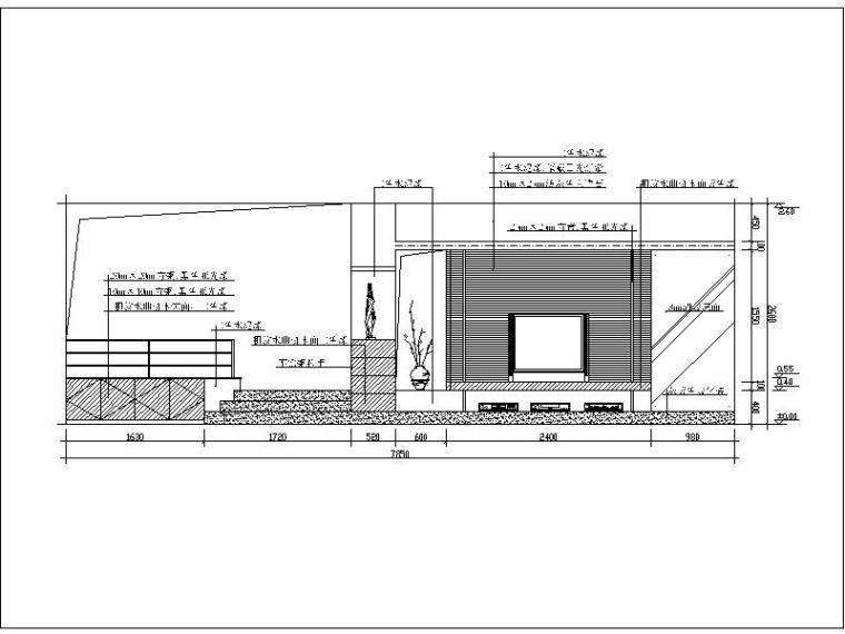 200款客厅电视背景造型墙设计施工图