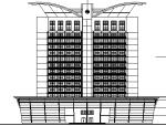 高层椭圆造型某市大酒店设计方案图