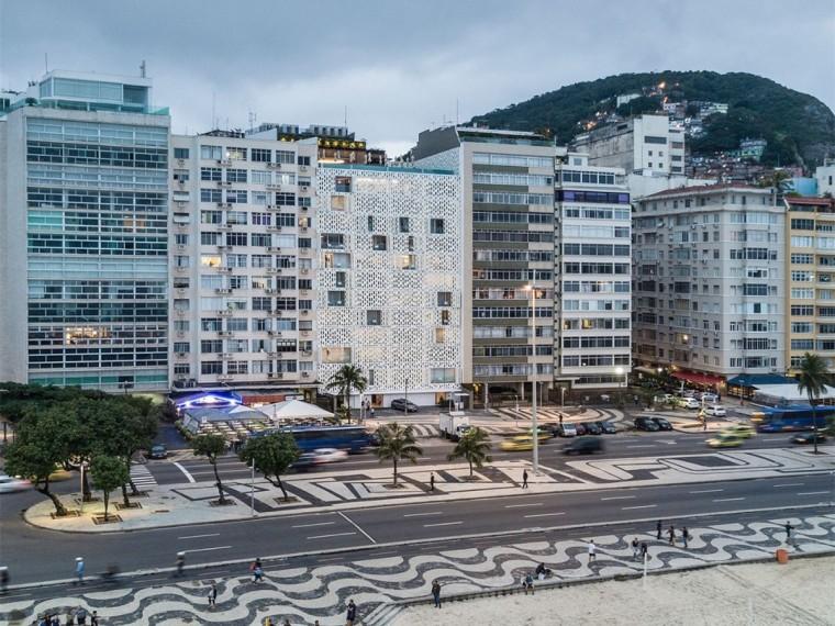 巴西混凝土中的蜂窝酒店