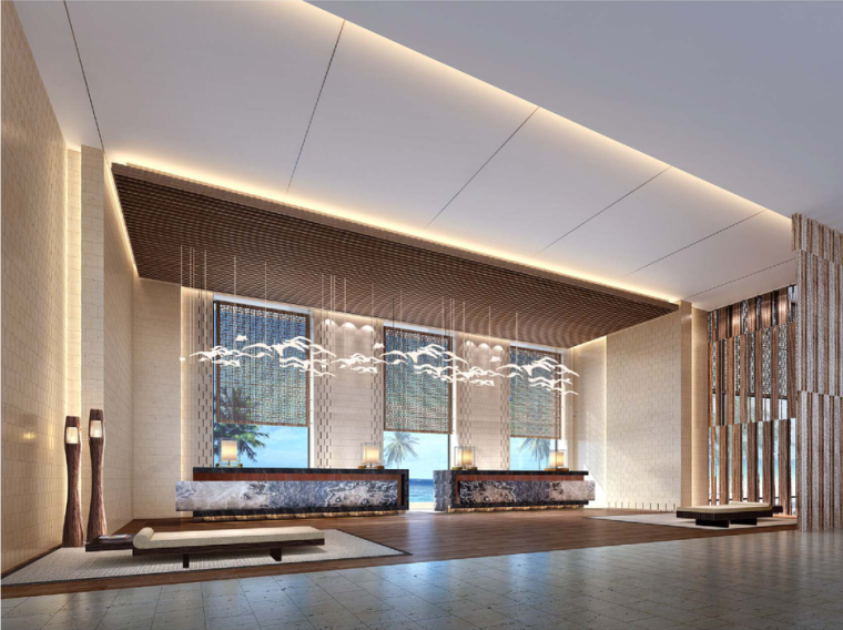 [深圳]CCD-佳兆业金沙湾万豪酒店公区&客房设计方案+效果图