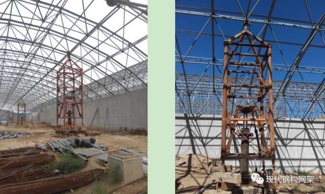 大跨度煤棚焊接球网架液压顶升施工技术_14