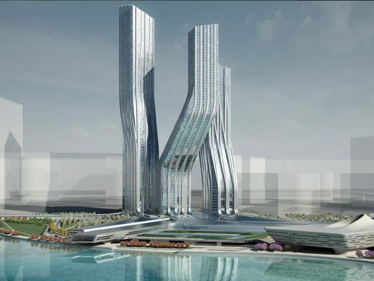 [迪拜]扎哈舞蹈大厦建筑设计方案文本(PDF+CAD)