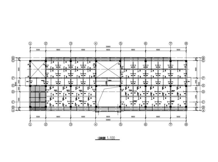 3层独立+条形基础钢筋混凝土框架结构施工图