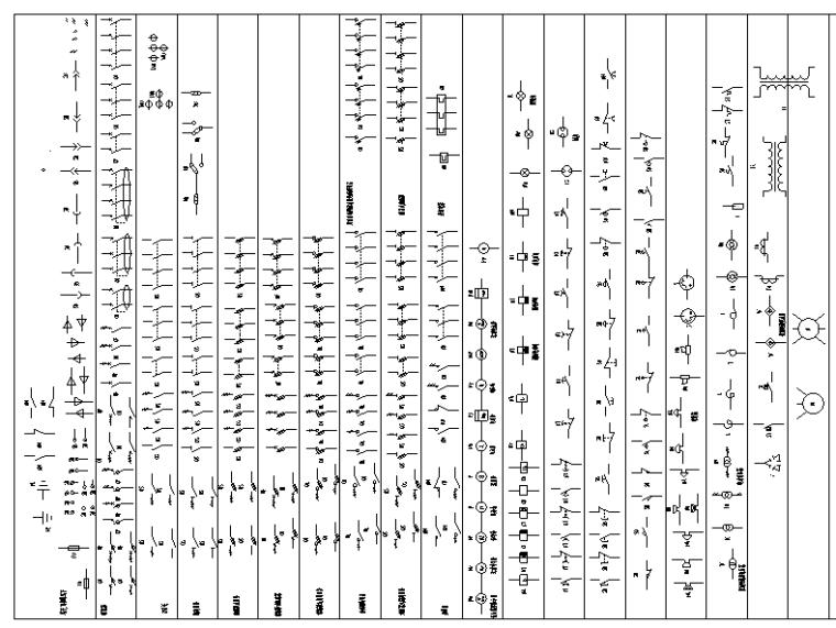 CAD电气符号详细图集