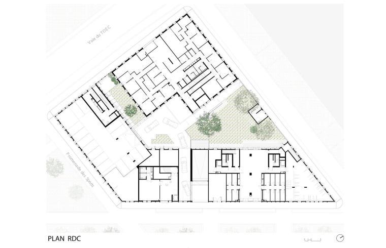 Plan_RDC_-_ZAC_Cartoucherie_-_◊lot_1.3_-_Taillandier_Architectes_AssociÇs