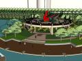滨湖公园景观su模型(有高差,风格大气)