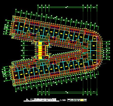 型钢悬挑脚手架CAD画图排序,先从哪里画?