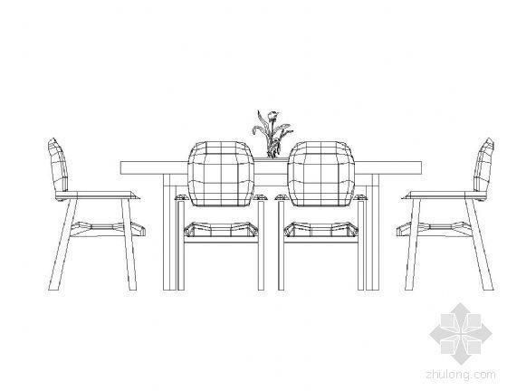 家居各式餐桌立面图块