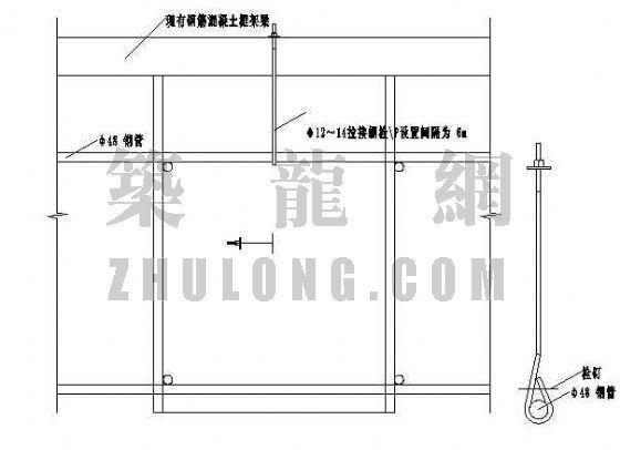 加固施工外架附墙平面示意图