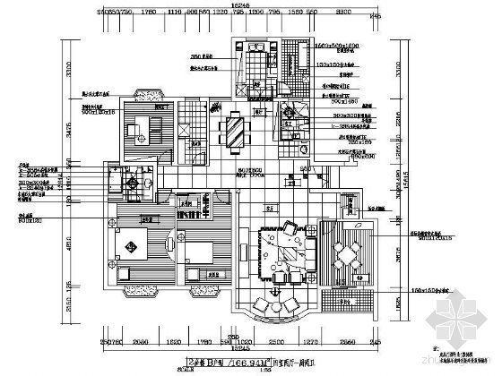 四室两厅一厨一卫户型装修平面图