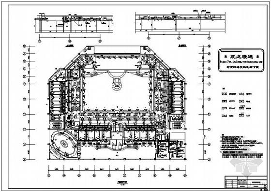 某剧院三层风管平面图