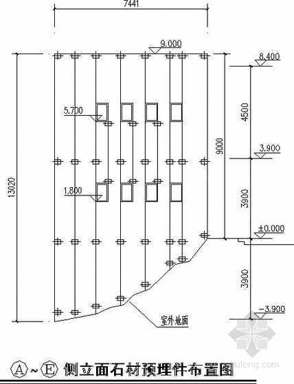 [山东]住宅楼幕墙结构施工图-