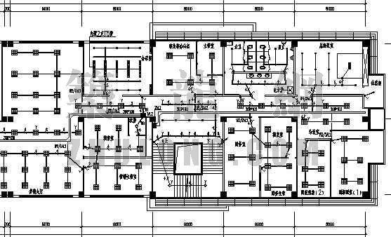 某四层办公楼强弱电图纸