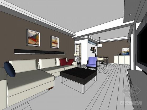 室内场景sketchup模型下载