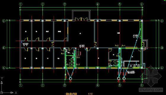 某部队办公楼图纸、给排水暖通(附施工图)v图纸建筑预算图片