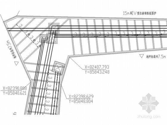 [浙江]管道沟槽基坑拉森钢板桩及钢支撑支护体系施工图(专家论证 含计算书)